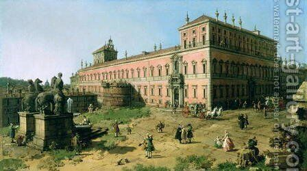 Plaza of the Quirinale, Rome by (Giovanni Antonio Canal) Canaletto - Reproduction Oil Painting