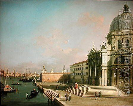 The Grand Canal by (Giovanni Antonio Canal) Canaletto - Reproduction Oil Painting