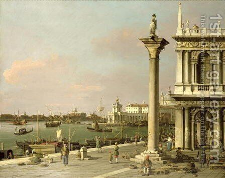 View of The Entrance to the Grand Canal from the Piazzetta by (Giovanni Antonio Canal) Canaletto - Reproduction Oil Painting