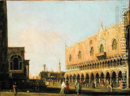 View of the Piazzetta San Marco Looking South, c.1735 by (Giovanni Antonio Canal) Canaletto - Reproduction Oil Painting