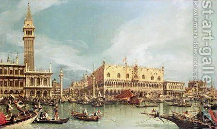 The Molo, Venice by (Giovanni Antonio Canal) Canaletto - Reproduction Oil Painting