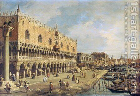 The Riva degli Schiavoni, Venice by (Giovanni Antonio Canal) Canaletto - Reproduction Oil Painting