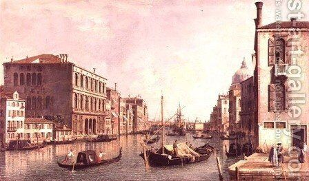 The Grand Canal, Venice (2) by (Giovanni Antonio Canal) Canaletto - Reproduction Oil Painting
