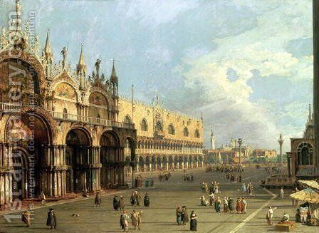 St.Mark's Square, Venice by (Giovanni Antonio Canal) Canaletto - Reproduction Oil Painting