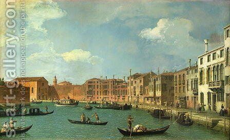 View of the Canal of Santa Chiara, Venice by (Giovanni Antonio Canal) Canaletto - Reproduction Oil Painting