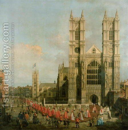 Procession of the Knights of the Bath by (Giovanni Antonio Canal) Canaletto - Reproduction Oil Painting