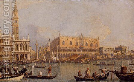 Ducal Palace, Venice, c.1755 by (Giovanni Antonio Canal) Canaletto - Reproduction Oil Painting