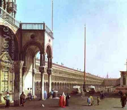 Piazza di San Marco from the Doges' Palace by (Giovanni Antonio Canal) Canaletto - Reproduction Oil Painting