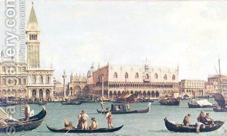 Venice from the Bacino by (Giovanni Antonio Canal) Canaletto - Reproduction Oil Painting