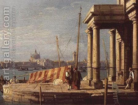 The Quay of the Dogano, Venice by (Giovanni Antonio Canal) Canaletto - Reproduction Oil Painting