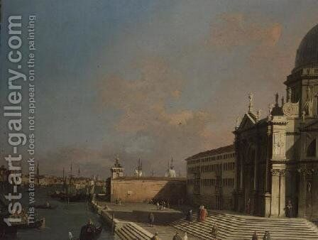 The Entrance to the Grand Canal, Venice (2) by (Giovanni Antonio Canal) Canaletto - Reproduction Oil Painting