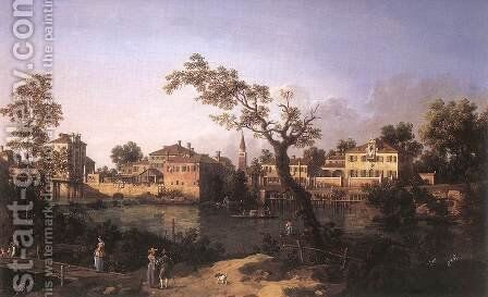 Padua by (Giovanni Antonio Canal) Canaletto - Reproduction Oil Painting