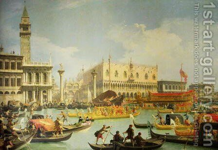 The Betrothal of the Venetian Doge to the Adriatic Sea, c.1739-30 by (Giovanni Antonio Canal) Canaletto - Reproduction Oil Painting
