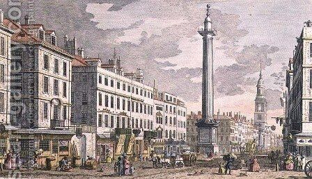 Monument erected in Memory of the Fire of London by (Giovanni Antonio Canal) Canaletto - Reproduction Oil Painting