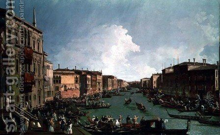 A Regatta on the Grand Canal, c.1735 by Studio of Canaletto, Antonio - Reproduction Oil Painting