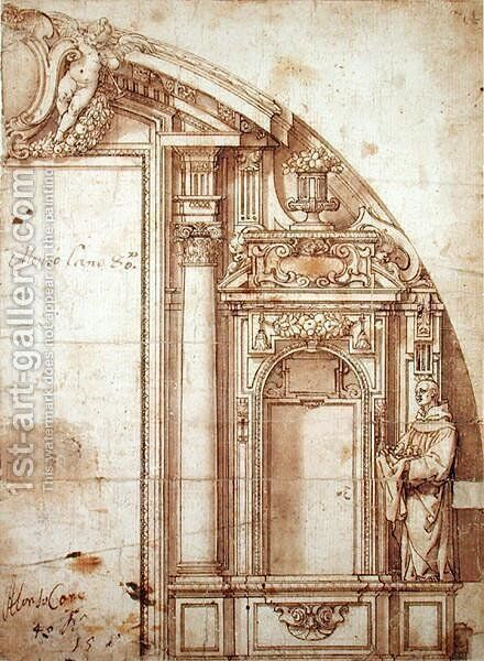 Architectural Study by Alonso Cano - Reproduction Oil Painting