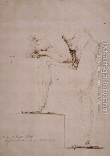 Male Nude Crying by Antonio Canova - Reproduction Oil Painting