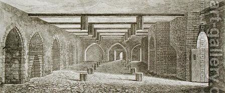 Powder Plot Cellar beneath the Palace of Westminster, 1799 by William Capon - Reproduction Oil Painting