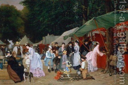 At The Fair,1877 by Camille-Leopold Cabaillot-Lasalle - Reproduction Oil Painting
