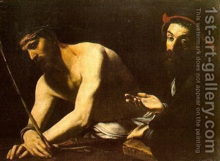 Christ before Caiaphas, c.1615 by Giovanni Battista Caracciolo - Reproduction Oil Painting