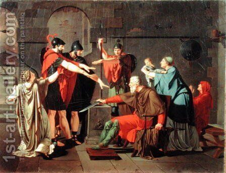 The Oath of the Horatii, 1791 by Armand Charles Caraffe - Reproduction Oil Painting