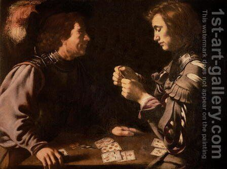 The Gamblers by (after) Michelangelo Merisi Da Caravaggio - Reproduction Oil Painting