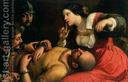 Samson and Delilah by (after) Michelangelo Merisi Da Caravaggio - Reproduction Oil Painting