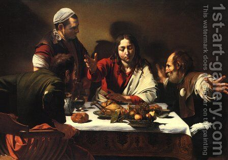 The Supper at Emmaus, 1601 by Caravaggio - Reproduction Oil Painting