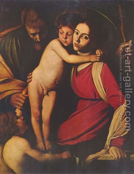 The Holy Family with St. John the Baptist by Caravaggio - Reproduction Oil Painting