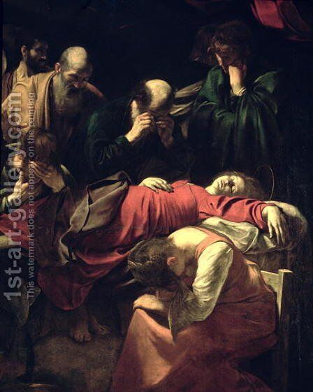 The Death of the Virgin, 1605-06 (detail) by Caravaggio - Reproduction Oil Painting