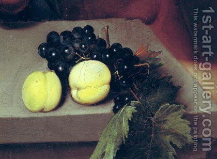 The Sick Bacchus, detail of peaches and grapes, 1591 by Caravaggio - Reproduction Oil Painting