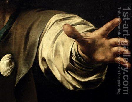 The Supper at Emmaus, 1601 (detail) by Caravaggio - Reproduction Oil Painting