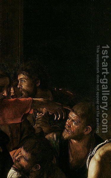Resurrection of Lazarus by Caravaggio - Reproduction Oil Painting