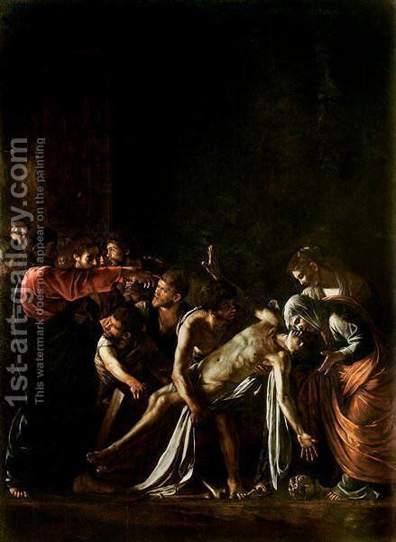 Resurrection of Lazarus (detail-1) by Caravaggio - Reproduction Oil Painting