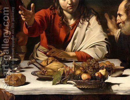 The Supper at Emmaus, 1601 (detail-1) by Caravaggio - Reproduction Oil Painting