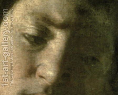 David with the Head of Goliath, 1606 (detail) by Caravaggio - Reproduction Oil Painting