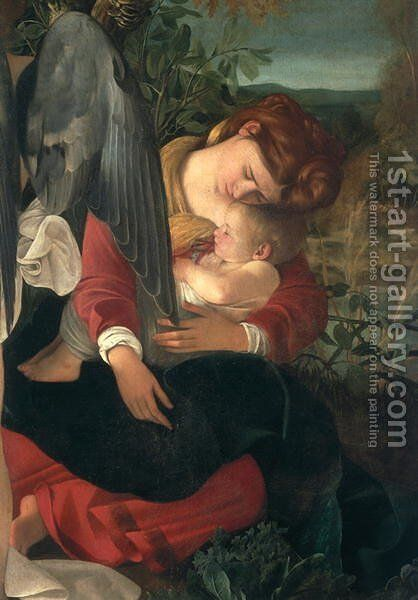 Rest during the flight into Egypt (detail-5) by Caravaggio - Reproduction Oil Painting