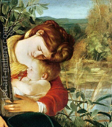 Rest on the Flight into Egypt, c.1603 by Caravaggio - Reproduction Oil Painting