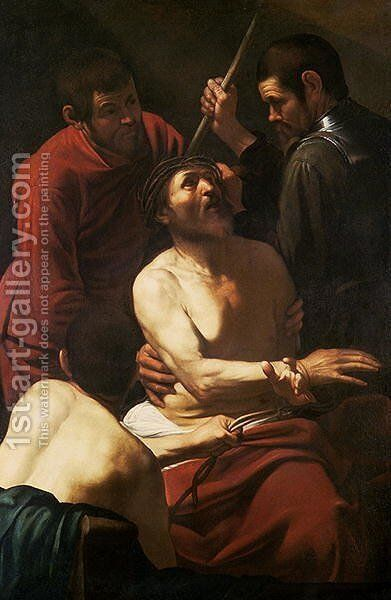 Christ Crowned by Thorns, c.1602 by Caravaggio - Reproduction Oil Painting