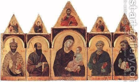 Polyptych No. 28 by Duccio Di Buoninsegna - Reproduction Oil Painting