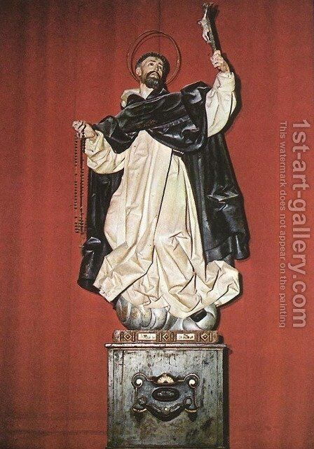 St Dominic by Gregorio Fernandez - Reproduction Oil Painting