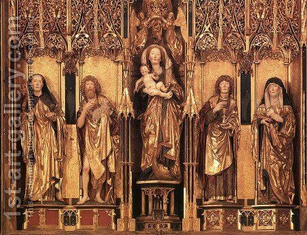 Altarpiece (central section) by Michael Erhart - Reproduction Oil Painting