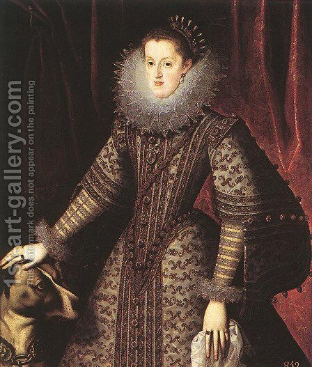 Queen Margarita of Austria by Bartolome Gonzalez Y Serrano - Reproduction Oil Painting