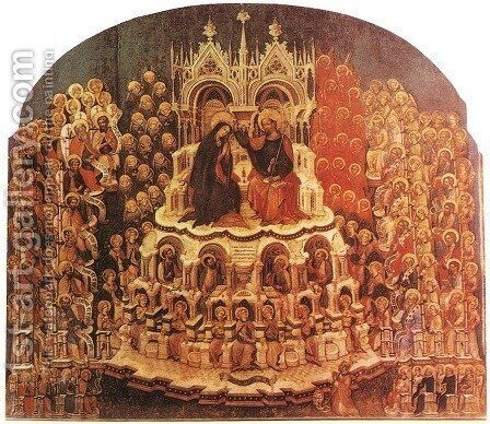 Coronation of the Virgin by Jacobello Del Fiore - Reproduction Oil Painting