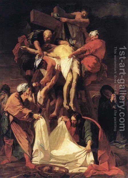Descent from the Cross by Jean-baptiste Jouvenet - Reproduction Oil Painting