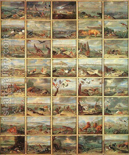 The Animals by Jan van Kessel - Reproduction Oil Painting