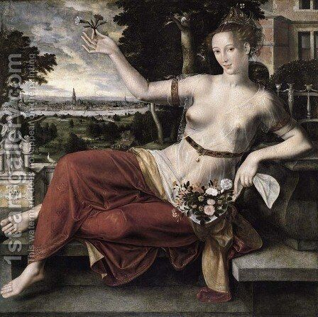 Flora by Jan Massys - Reproduction Oil Painting