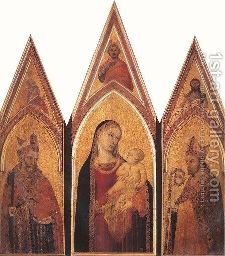 Altarpiece of St Proculus by Ambrogio Lorenzetti - Reproduction Oil Painting