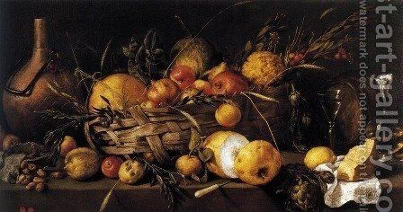 Still-Life with Fruit by Antonio de Pereda - Reproduction Oil Painting