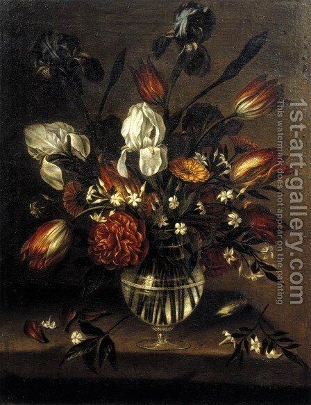 Vase of Flowers by Antonio Ponce - Reproduction Oil Painting